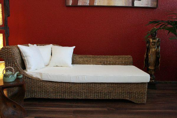 chaiselongue bett futonbett futon neu handarbeit bali ebay. Black Bedroom Furniture Sets. Home Design Ideas