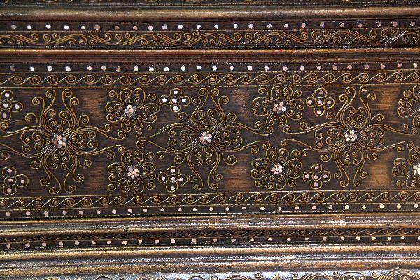Couchtisch, Truhe, Gold, Holz, Elefanten, Orient, Thailand