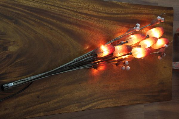 zweigenstrau blumenstrau elektrisch lampe leuchte stehlampe blumen strau neu ebay. Black Bedroom Furniture Sets. Home Design Ideas