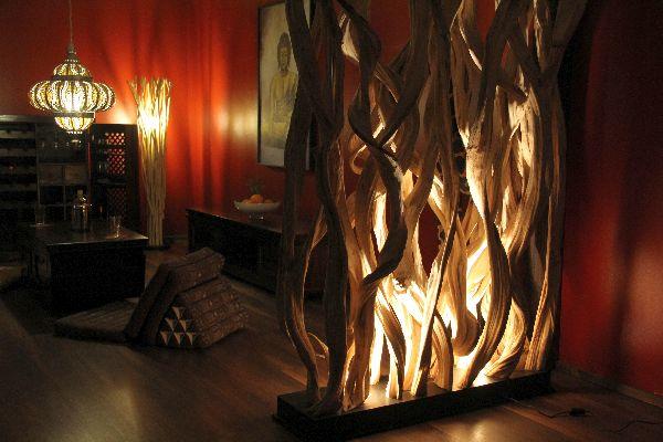 raumteiler stehlampe holz 210x146x45 massiv stehleuchte lampe leuchte designer ebay. Black Bedroom Furniture Sets. Home Design Ideas