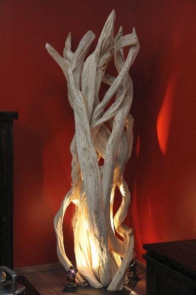 stehlampe stehleuchte bodenlampe holz massiv lianen wei 175cm. Black Bedroom Furniture Sets. Home Design Ideas
