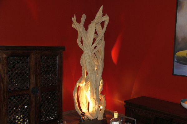 stehlampe stehleuchte lianen holz 175cm massiv bodenlampe lampe leuchte designer ebay. Black Bedroom Furniture Sets. Home Design Ideas