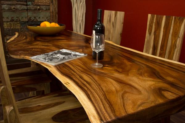 Esstisch Baumscheibe ~ Esstisch Suar Holz Massiv 200x86x75 Natur Tisch Küchentisch Schreibtisch Neu
