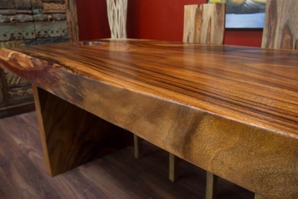 esstisch suar holz massiv 200x90x78 integrierte schale tisch platte baumscheibe ebay. Black Bedroom Furniture Sets. Home Design Ideas