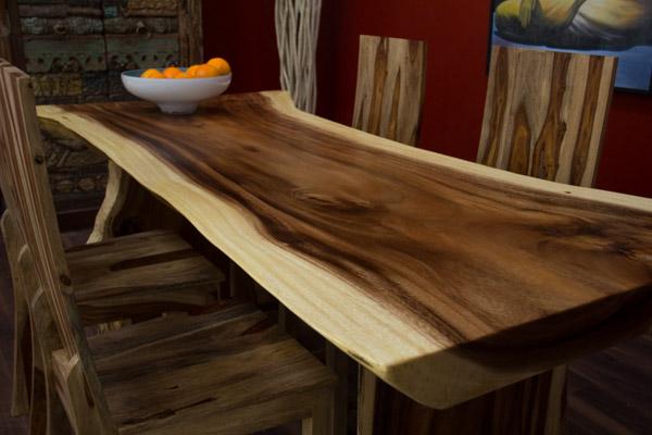 Esstisch Suar Holz Massiv 200x106x78 Baumscheibe Natur Tisch Platte Beine Unikat  eBay