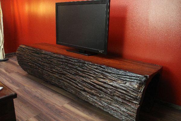 tv lowboard sideboard rosenholz baumstamm massiv 201x50x50. Black Bedroom Furniture Sets. Home Design Ideas