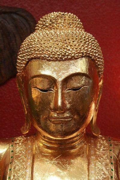 buddha gold holz statue figur skulptur 200cm vergoldet thailand massiv gro neu. Black Bedroom Furniture Sets. Home Design Ideas