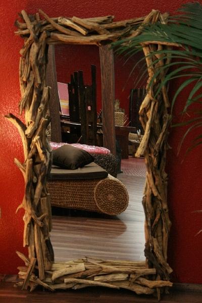 schlafzimmer design modern wanddeko spiegel holz rahmen