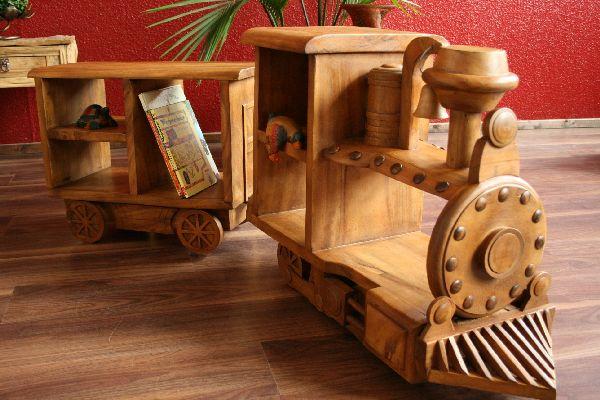 Kindermöbel holz  Regal,Lokomotive,Eisenbahn,Zug,Holz,Massiv,Natur,Kinderzimmer ...