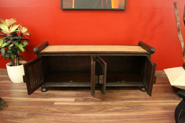 sideboard schrank tv hifi massiv holz rattan lowboard fernsehschrank t ren neu ebay. Black Bedroom Furniture Sets. Home Design Ideas