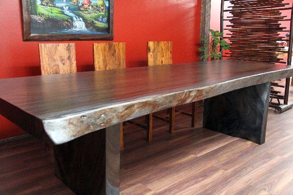 esstisch suar holz massiv tisch designer mooreiche 301x122x80. Black Bedroom Furniture Sets. Home Design Ideas
