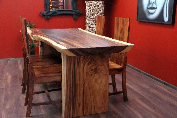 schreibtisch suar holz massiv 201x97x79 natur tisch tischplatte esstisch gro ebay. Black Bedroom Furniture Sets. Home Design Ideas