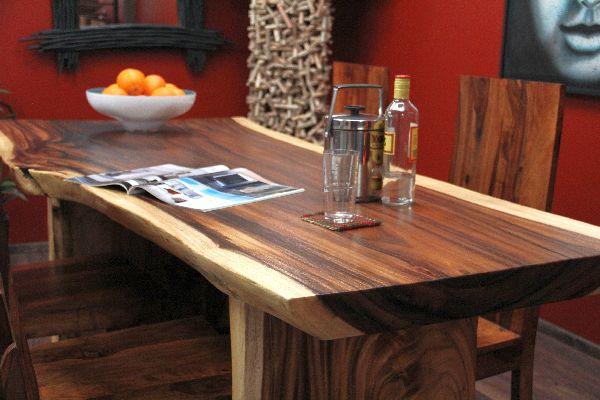 schreibtisch suar holz massiv 201x97x79 natur tisch. Black Bedroom Furniture Sets. Home Design Ideas