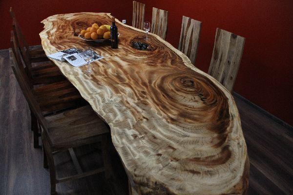 esstisch holz suar 4 meter massiv 370kg natur tisch tischplatte konferenztisch ebay. Black Bedroom Furniture Sets. Home Design Ideas
