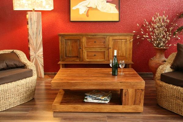 Couchtisch,Stauraum,90x60x40,Sheesham,Holz,Massiv