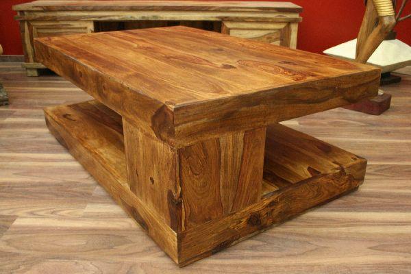 Couchtisch holz massiv 110x70x40 bali sheesham tisch for Salontisch design