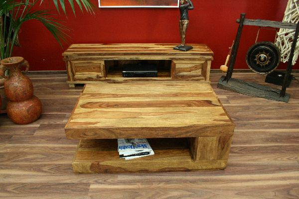 couchtisch tisch holz massiv naturfarben landhausstil 110x70x40. Black Bedroom Furniture Sets. Home Design Ideas