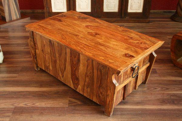couchtisch 110x60x45 massiv holz kolonialstil wohnzimmertisch honig sheesham neu ebay. Black Bedroom Furniture Sets. Home Design Ideas