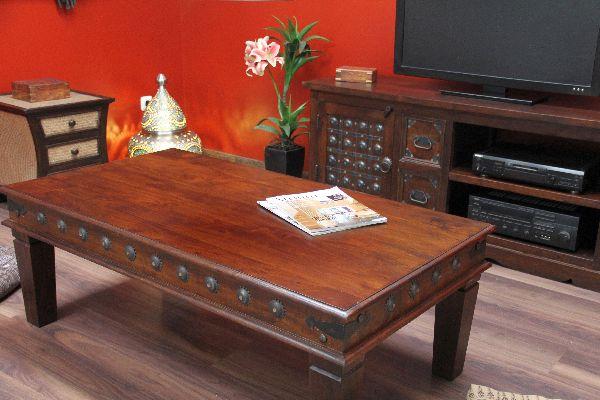couchtisch kolonialstil indien orient wohnzimmertisch. Black Bedroom Furniture Sets. Home Design Ideas