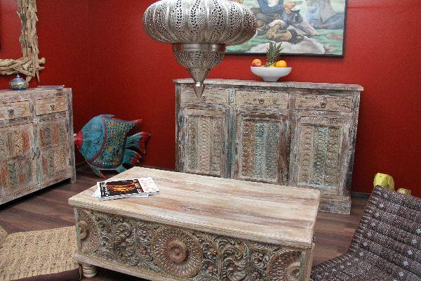 Couchtisch truhe truhentisch 120x60x45 massivholz kolonial - Wohnzimmertisch ausgefallen ...