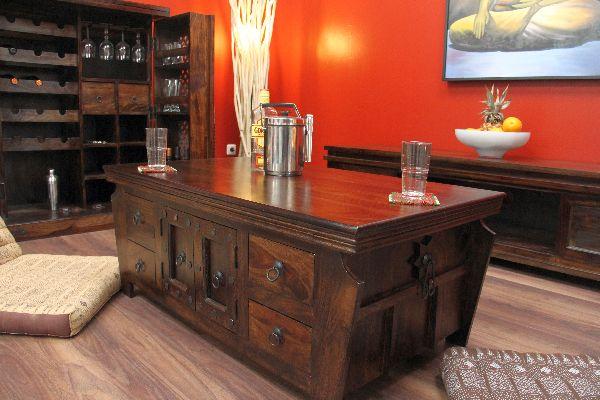sheesham couchtisch aus massivholz im kolonialstil. Black Bedroom Furniture Sets. Home Design Ideas