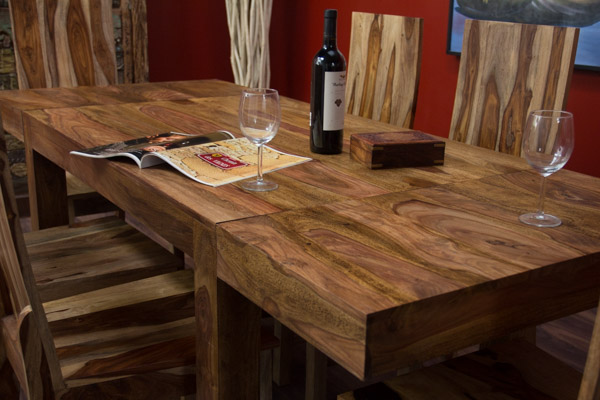Esstisch Holz Naturbelassen ~ Details zu Esstisch Erweiterbar Massiv Holz 120×80 200×80 Natur Matt