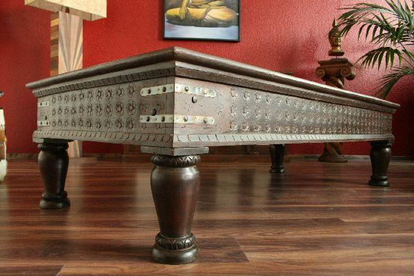 Couchtisch holz antik wohnzimmertisch 180x90x45 for Indische mobel antik