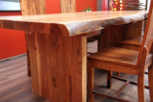 esstisch suar holz massiv 214x108x79 natur tisch schreibtisch k chentisch neu ebay. Black Bedroom Furniture Sets. Home Design Ideas