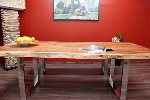 esstisch suar massiv holz k chentisch tisch stahl. Black Bedroom Furniture Sets. Home Design Ideas