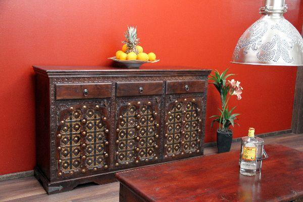 schrank kolonial buffet anrichte 151x90x50 sideboard antik. Black Bedroom Furniture Sets. Home Design Ideas