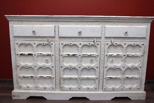 schrank kolonialstil kommode antik wei holz indien. Black Bedroom Furniture Sets. Home Design Ideas