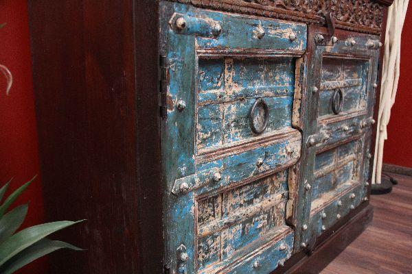 Kommode kolonial antik schrank holz massiv indien for Indischer kolonialstil