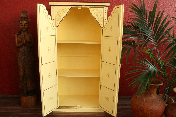 kleiderschrank wohnzimmerschrank handbemalt 175x90x50 gro. Black Bedroom Furniture Sets. Home Design Ideas