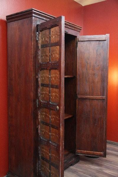 schrank kolonial antik elefanten 181x90x42 holz massiv. Black Bedroom Furniture Sets. Home Design Ideas