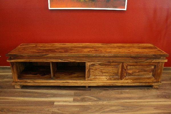 sideboard tv hifi 180x45x40 holz massiv bali schrank regal rack fernsehschrank ebay. Black Bedroom Furniture Sets. Home Design Ideas