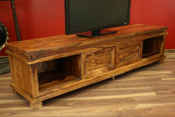sideboard tv hifi 180x45x40 holz massiv bali schrank regal. Black Bedroom Furniture Sets. Home Design Ideas