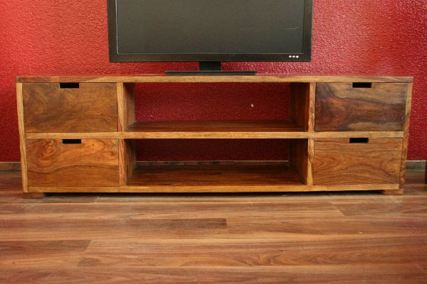 sideboard tv hifi 160x50x40 sheesham holz massiv fernsehschrank regal schubladen ebay. Black Bedroom Furniture Sets. Home Design Ideas