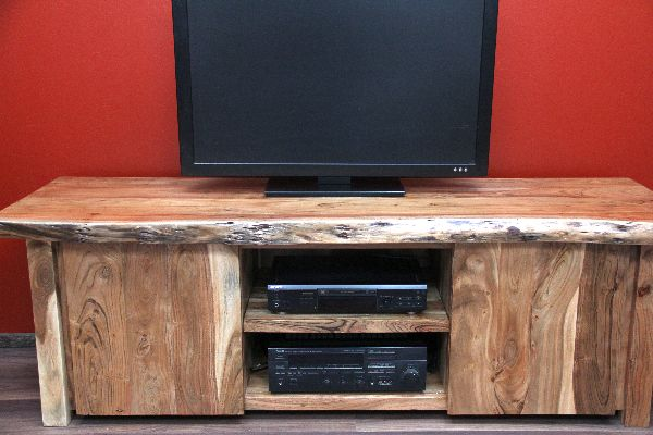 tv sideboard suar holz massiv schrank board tv hifi 180x60x57. Black Bedroom Furniture Sets. Home Design Ideas