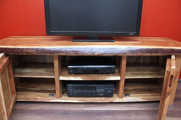TV Sideboard, Suar, Holz, Massiv, Schrank, Board, TV, HIFI, 180x60x57