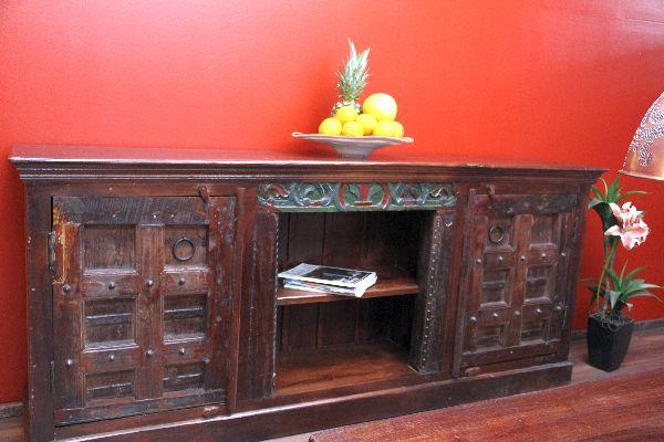 sideboard indien schrank kolonial buffet anrichte 215x93x45 antik sideboard