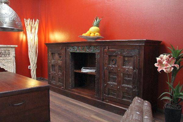 schrank kolonial buffet anrichte 215x93x45 antik sideboard. Black Bedroom Furniture Sets. Home Design Ideas