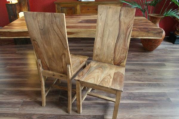 Designer stuhl holzstuhl massiv holz handarbeit bali sheesham neu einzeln ebay - Designer holzstuhl ...