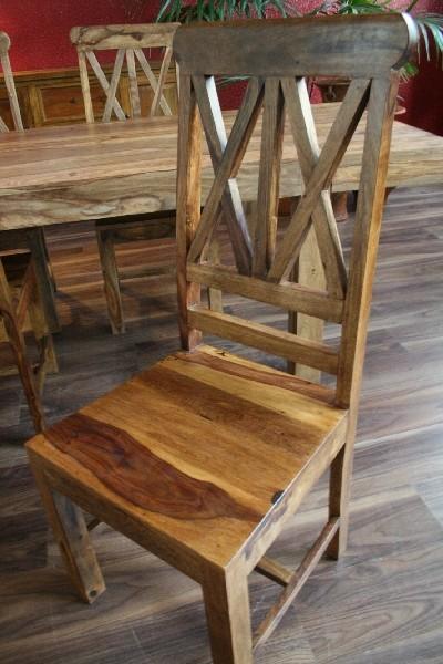 Designer stuhl lehnstuhl holzstuhl massiv holz handarbeit bali sheesham einzeln ebay - Designer holzstuhl ...