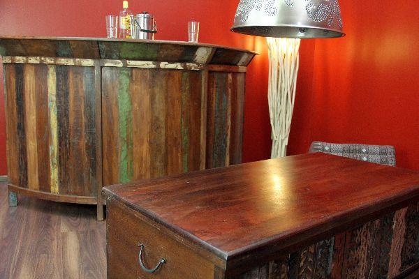 bar theke tresen schrank 184cm kolonial antik holz massiv hausbar garten wein ebay. Black Bedroom Furniture Sets. Home Design Ideas