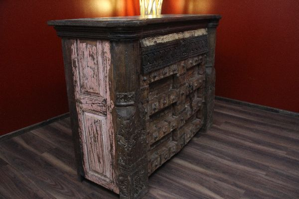 bar theke tresen schrank kolonial antik vintage alt holz massiv hausbar wein ebay. Black Bedroom Furniture Sets. Home Design Ideas