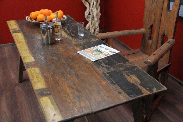 Esstisch massiv vintage  Tisch Teak Holz Bali Vintage 190x75x79 Esstisch Antikstil ...