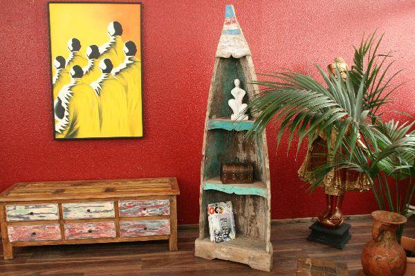 regal holz standregal bootregal 197x64x36cm massiv teak. Black Bedroom Furniture Sets. Home Design Ideas