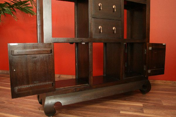 raumteiler zweiseitig regal holz 181x110x30 schubladen t ren massiv. Black Bedroom Furniture Sets. Home Design Ideas