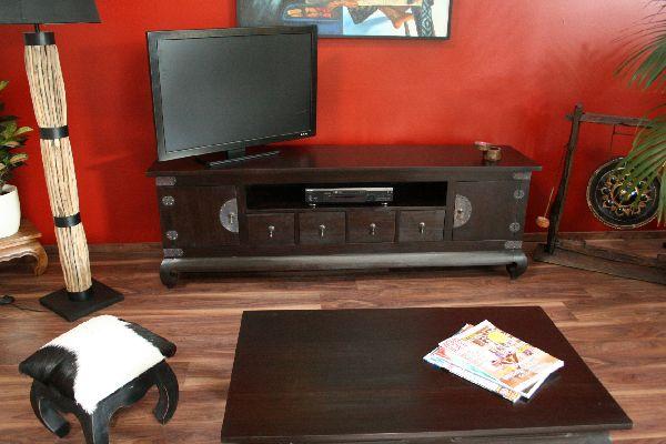 sideboard tv hifi 192x64x44 holz massiv java schrank regal rack fernsehschrank ebay. Black Bedroom Furniture Sets. Home Design Ideas