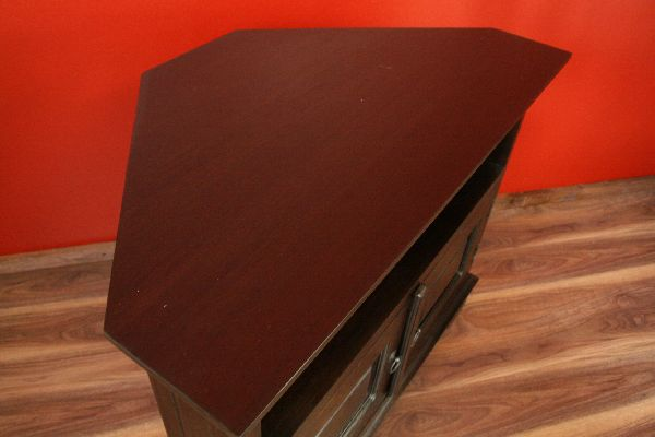 eckschrank tv hifi 90x70x50 holz massiv fernsehschrank eck regal rack sideboard ebay. Black Bedroom Furniture Sets. Home Design Ideas